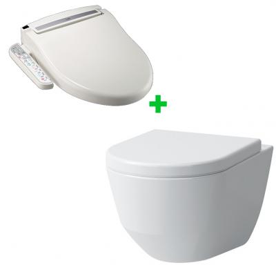 Комплект электронное биде SATO DB400 + подвесной безободковый унитаз Laufen Pro