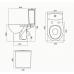 Комплект электронное биде SATO DB500R + напольный унитаз Kolo Freja