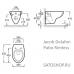 Sato DB500R и подвесной безободковый унитаз Jacob Delafon Patio Rimless