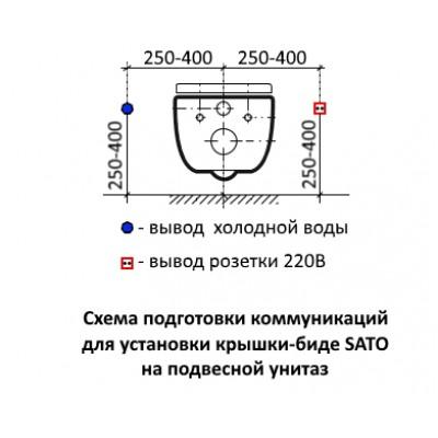 Схема подключения электронной крышки биде SATO | Установка электронного биде в санузле